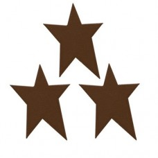 "Brown Rustic Look Tin Star - 1-3/4"" - 3/pkg"
