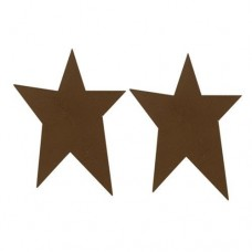 "Brown Rustic Look Tin Star - 2-1/2"" - 2/pkg"