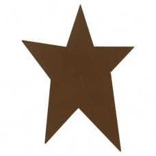 "Brown Rustic Look Tin Star - 4"" - 1/pkg"